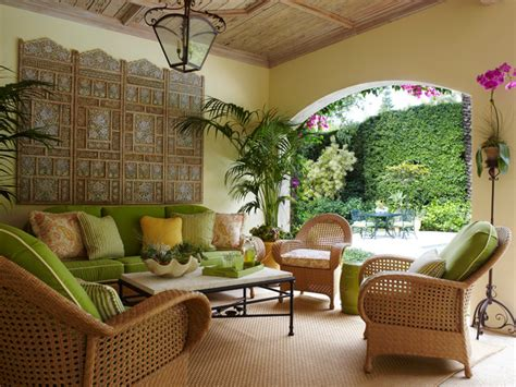 Tropical Patio Decor by Palm Loggia Tropical Patio Miami By Brantley