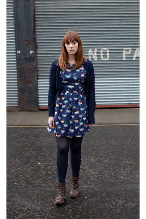 brown fly boots navy topshop dresses navy tesco