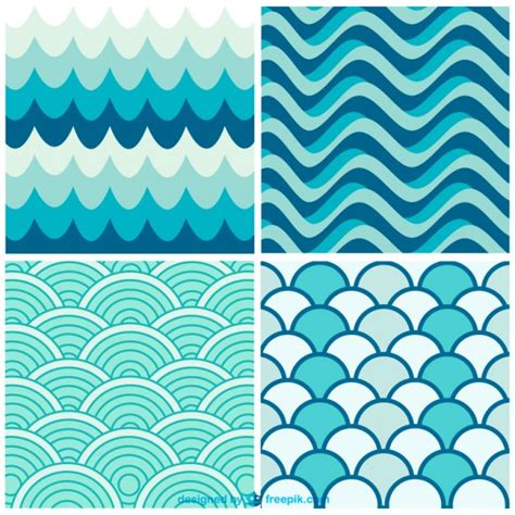 wave pattern en español watergolven retro patronen vector gratis download