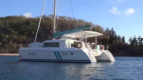 catamaran whitsundays sailing the whitsundays on catamaran lucy youtube