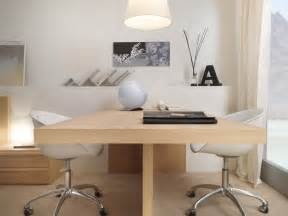 Home Office With Two Desks Dual User Desk Interior Design Ideas