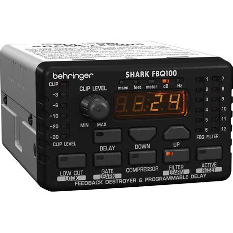 behringer shark fbq100 behringer shark fbq100 automatic feedback destroyer fbq100 b h