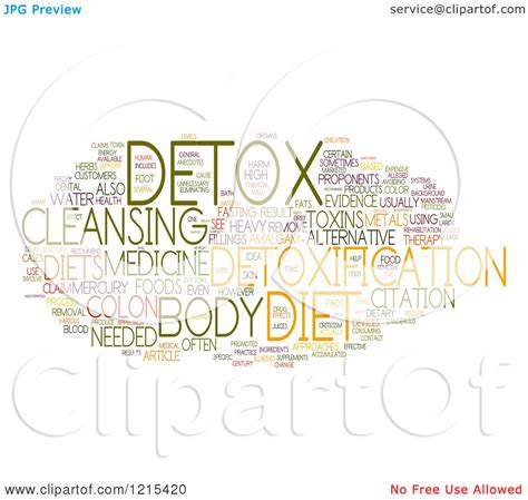 Detox Clip by Clipart Of A Colorful Detox Word Collage Royalty Free