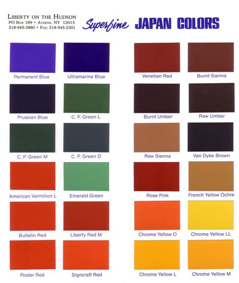 japan colors
