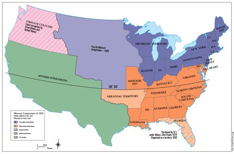 sectional compromise map of united states missouri compromise 28 images