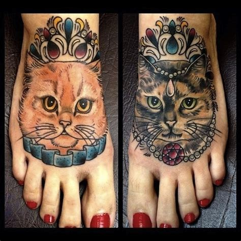 kitten tattoo cool cat tattoos damn cool pictures