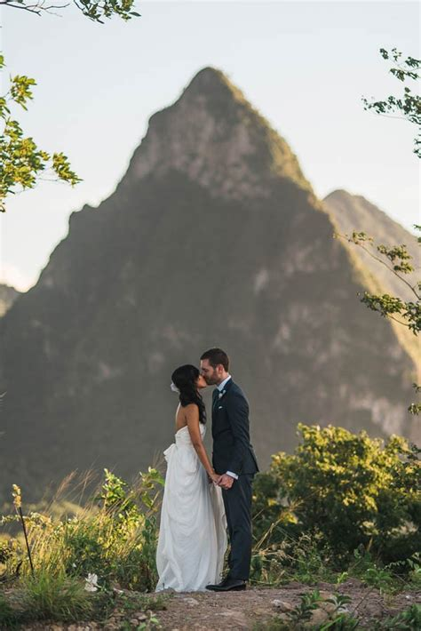 st wedding diy st lucia wedding in soufriere junebug weddings