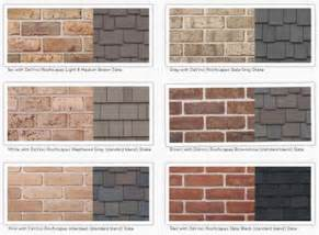exterior house color schemes with red brick google