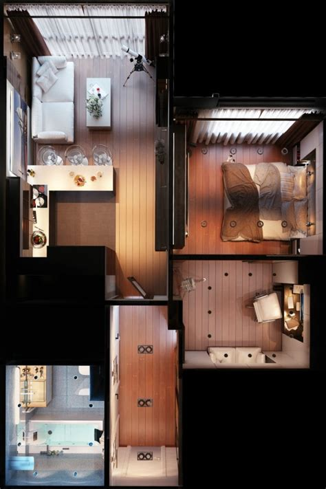 75 Square Meters To Feet by Small Apartment Floorplan
