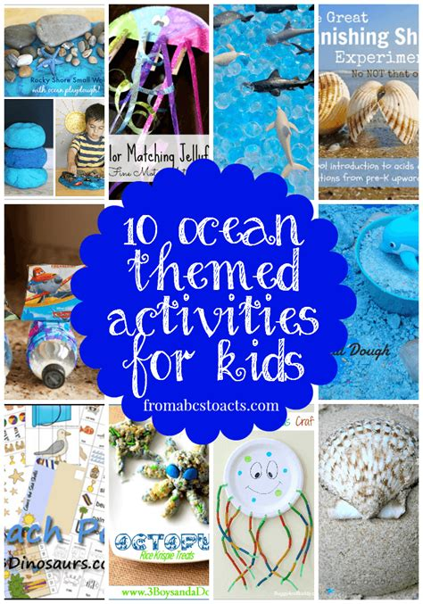 themed events for youth down by the sea 10 ocean themed activities for kids