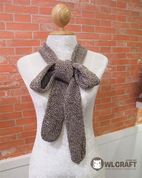 knitting pattern for narrow scarf hand knitted narrow long cotton scarf on luulla