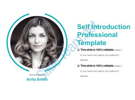 personal portfolio template self introduction professional template sample
