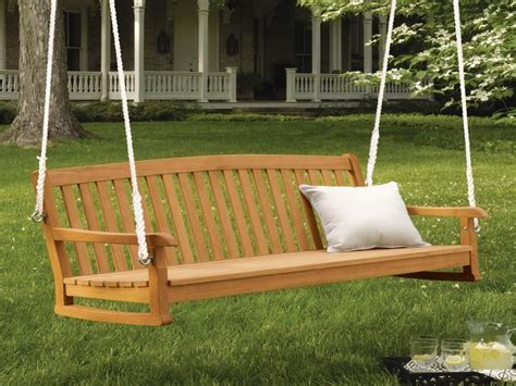 garden swing bench wood wood bench swing treenovation