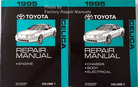 service and repair manuals 1995 toyota celica electronic toll collection 1995 toyota celica factory shop repair manual 2 volume set original factory repair manuals