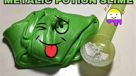 tutorial membuat slime yang mudah green potion slime tutorial ind cara membuat slime