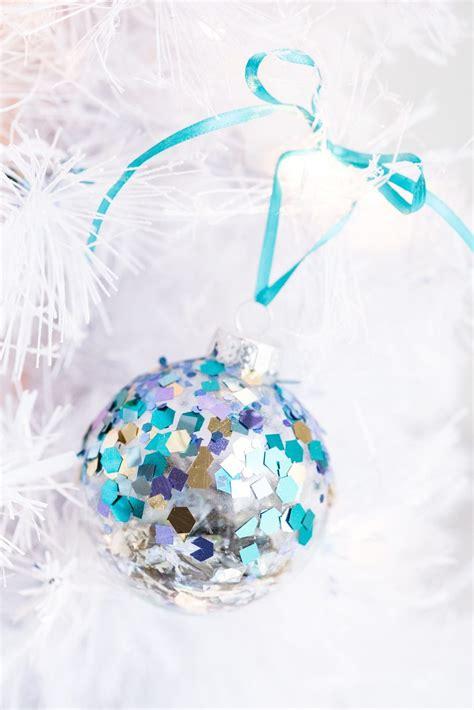 diy glitter twine ornaments diy glitter confetti ornaments the sweetest occasion