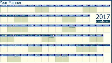 2017 Planning Calendar Professional Year Planner 2017 Lunarorganics