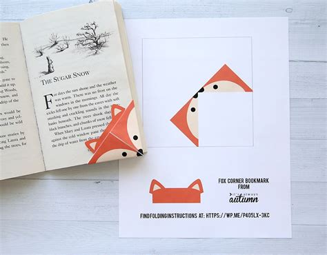 printable christmas origami bookmarks diy woodland animals origami bookmarks print fold