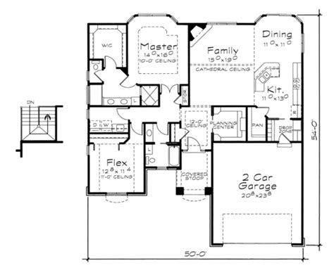 2100 sq ft house plans traditional style house plan 2 beds 2 baths 1633 sq ft
