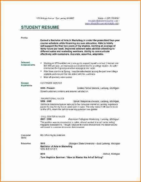 Great Resume Exles For College Students 13 Resume For College Student Invoice Template