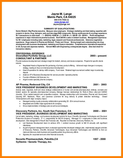 Sle Resume Ability Summary summary of qualifications sle resume 28 images best
