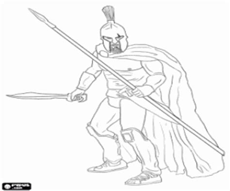 Ancient Greece Coloring Pages Printable Games Spartan Coloring Pages