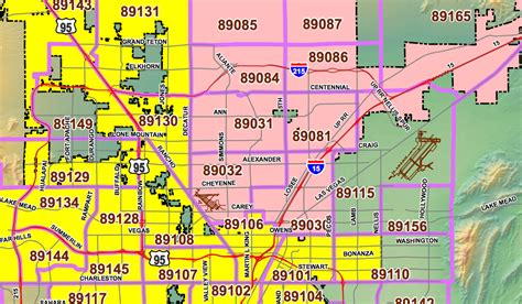 printable zip code map of las vegas las vegas zip codes zip code maps