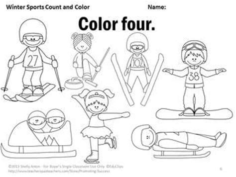 sports coloring pages for kindergarten winter math counting 1 10 worksheets kindergarten coloring