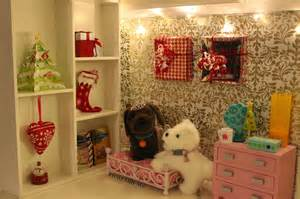 Christmas doll bedroom decorations