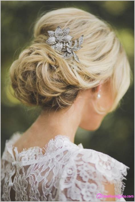 Bridal Bun Hairstyles With Veil by Bridal Hairstyles Low Bun With Veil Allnewhairstyles