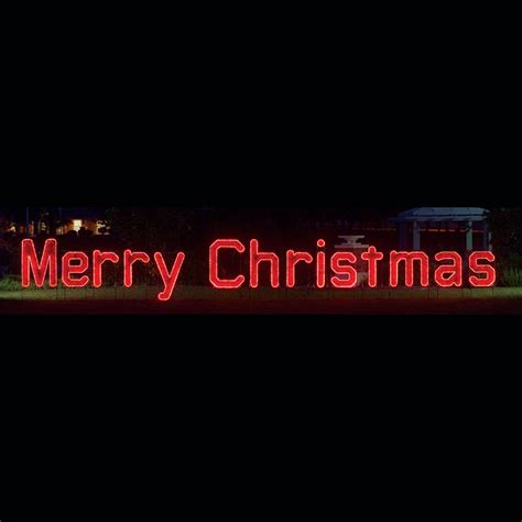 lighted merry christmas sign outdoor merry led garland rope light display 40