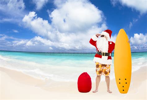 santa claus sitting  beach chairs christmas holiday concept stock image image  shoes
