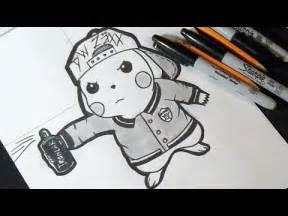 como desenhar pikachu tampa grafite
