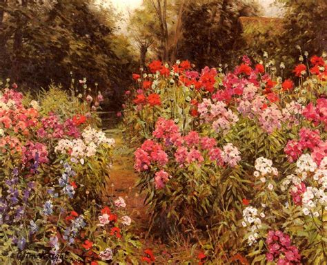 Louis Aston Knight A Flower Garden Painting Framed Paintings Of Flower Gardens