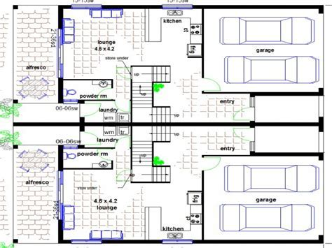 Townhouse Floor Plans with Garage Townhouse Floor Plans