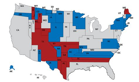 united states map by political 2014 the surprisingly unrepresentative 2014 senate map
