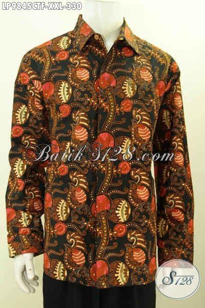 Kemeja Batik Lengan Panjang Bigsize batik kemeja mewah lengan panjang khas jawa tengah baju batik elegan furing motif