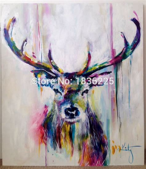 Wall Stickers Numbers handmade items colorful abstract paintings animals oil