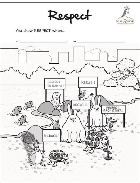 pics for gt showing respect coloring pages