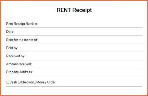 rent receipt letter template free rent receipt form mindofamillennial me