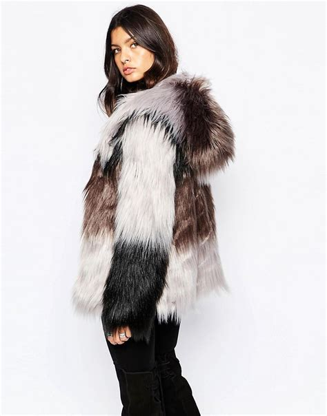 luxury ladies fur coats ladies fluffy luxury faux fur hooded coat ebay