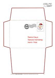 santa envelope template printable letter to santa claus envelope template simple