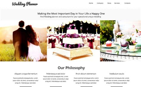 Best Wedding Planning Websites 2016 by 40 Best Wedding Html Website Templates 2018 Wpshopmart