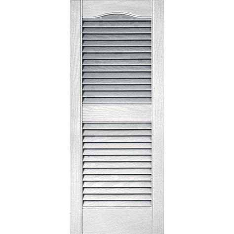 Exterior Louvered Door Vinyl Louvered Exterior Shutters The Home Depot