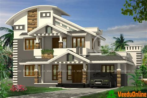 double floor modern style home design 2015 2256 sq ft modern double floor home design archives