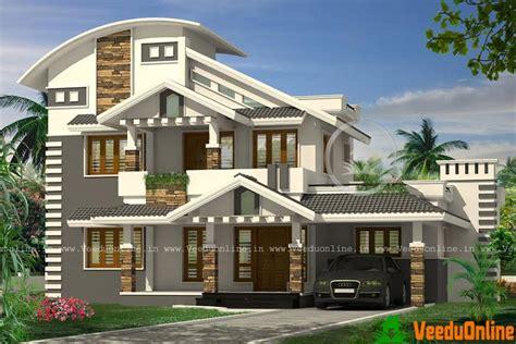 design new home online 2256 sq ft modern double floor home design veeduonline
