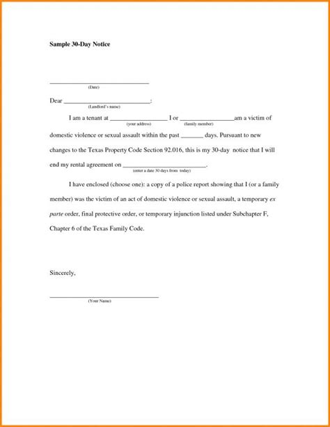 breaking lease agreement template breaking lease letter template business