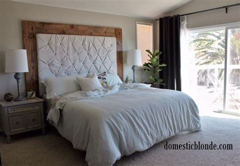 how to make a plush headboard 1000 ideas about tufted headboards on pinterest