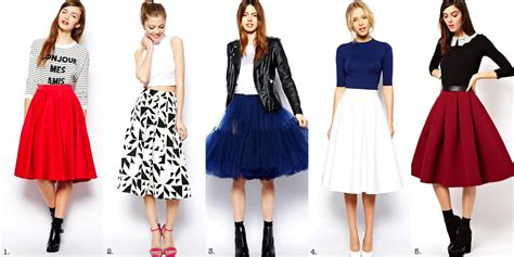 frills and thrills the midi skirt trend