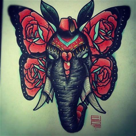butterfly elephant tattoo elephant butterfly tattoos pinterest